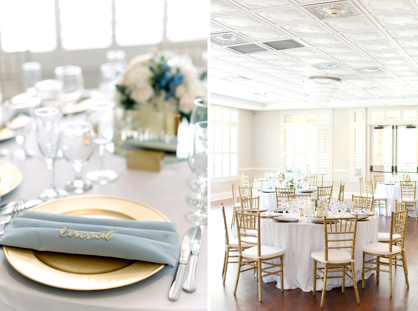 natural light wedding reception