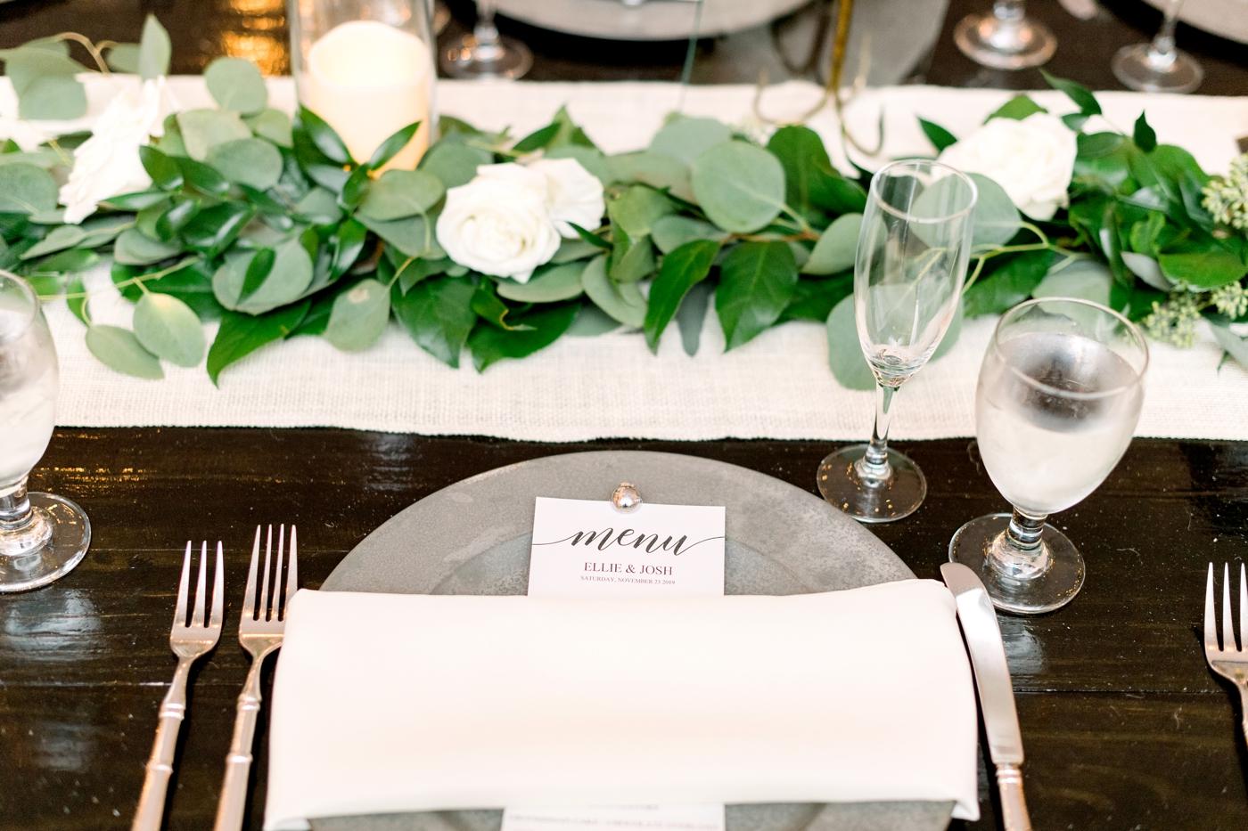 Dinner Menu for Wedding