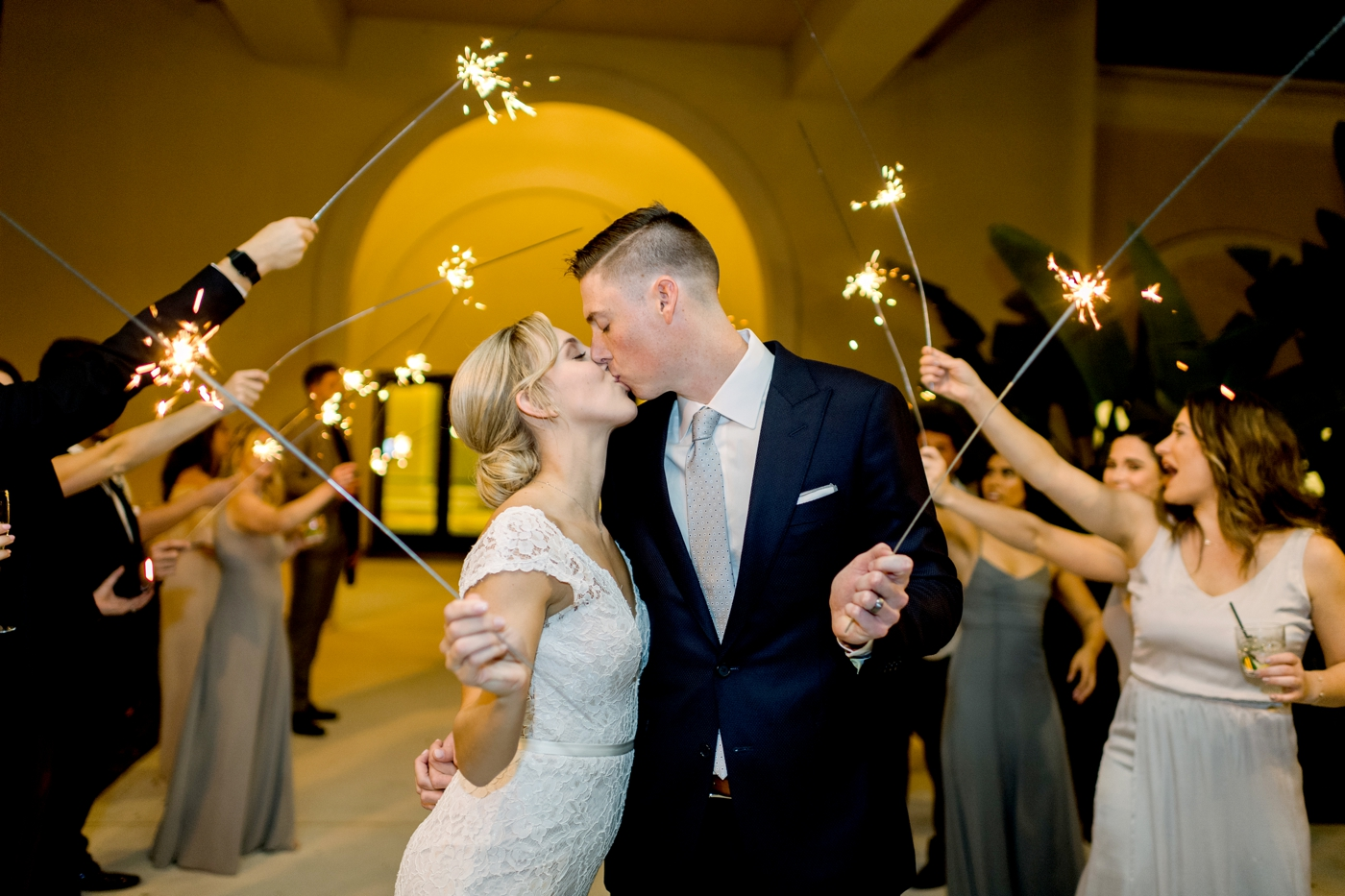 sparkler wedding photography orlando