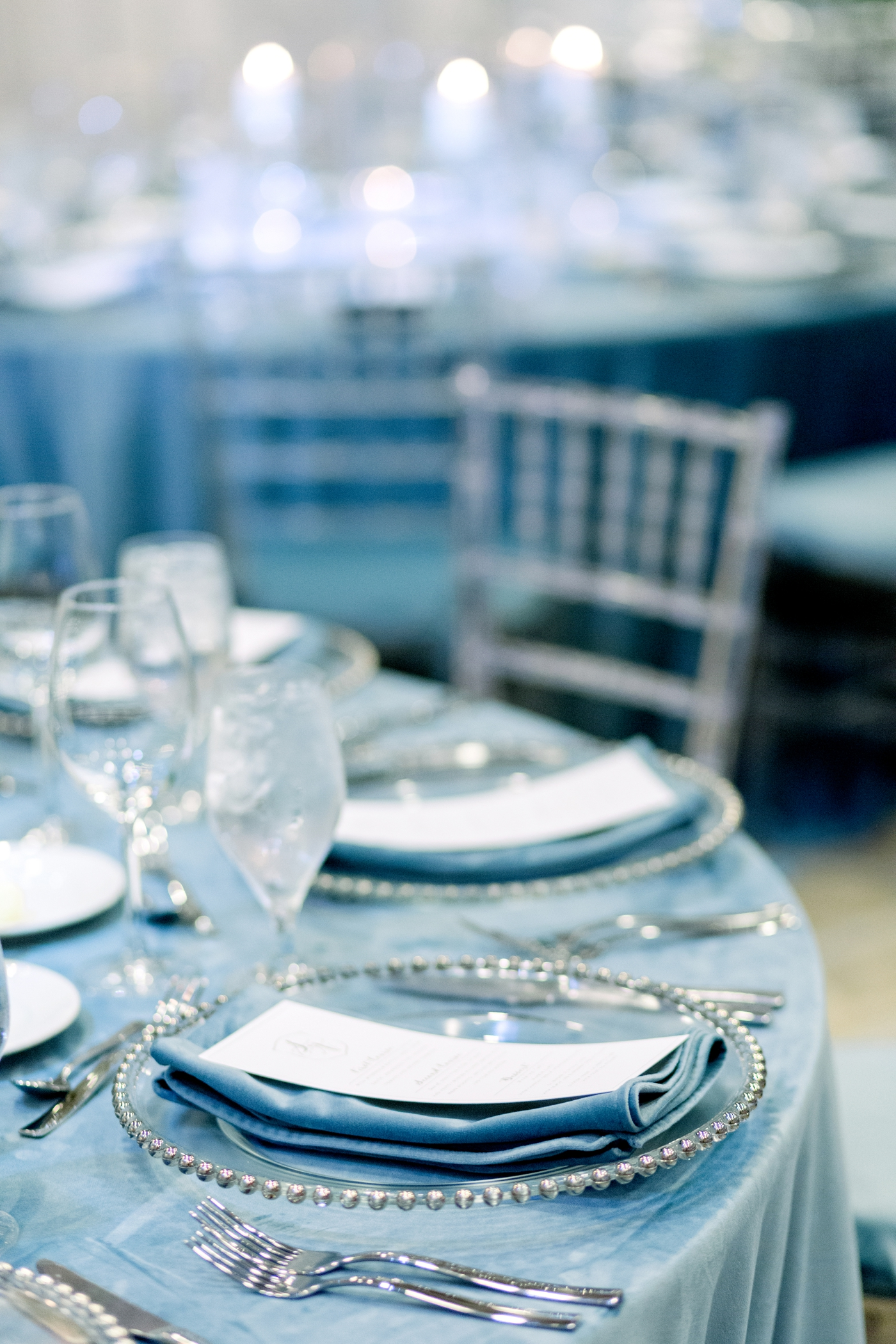 blue velvet linens over the top linens