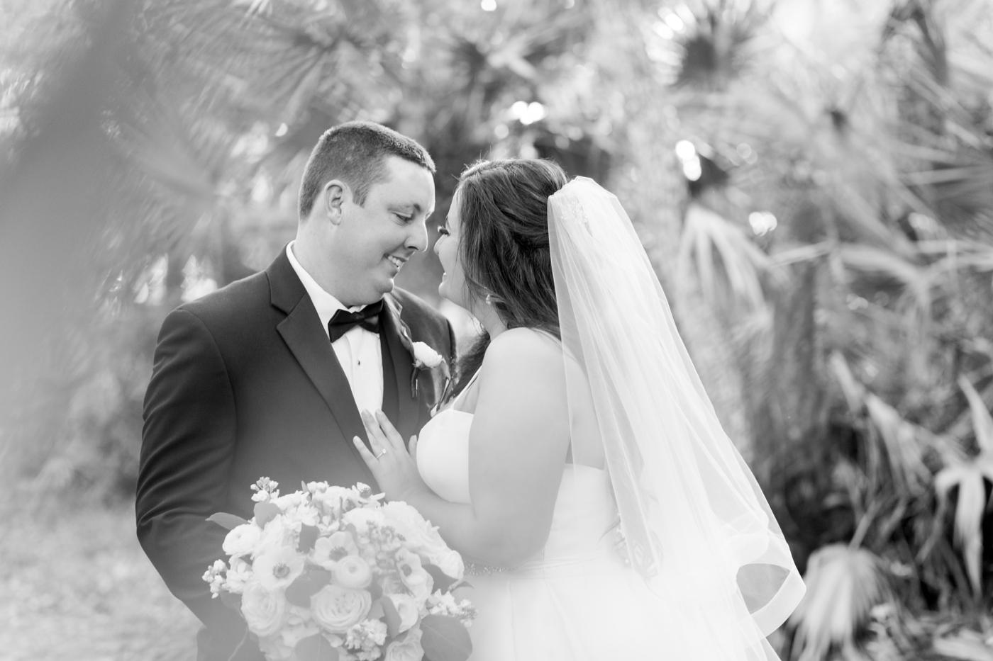 black and white orlando wedding photography