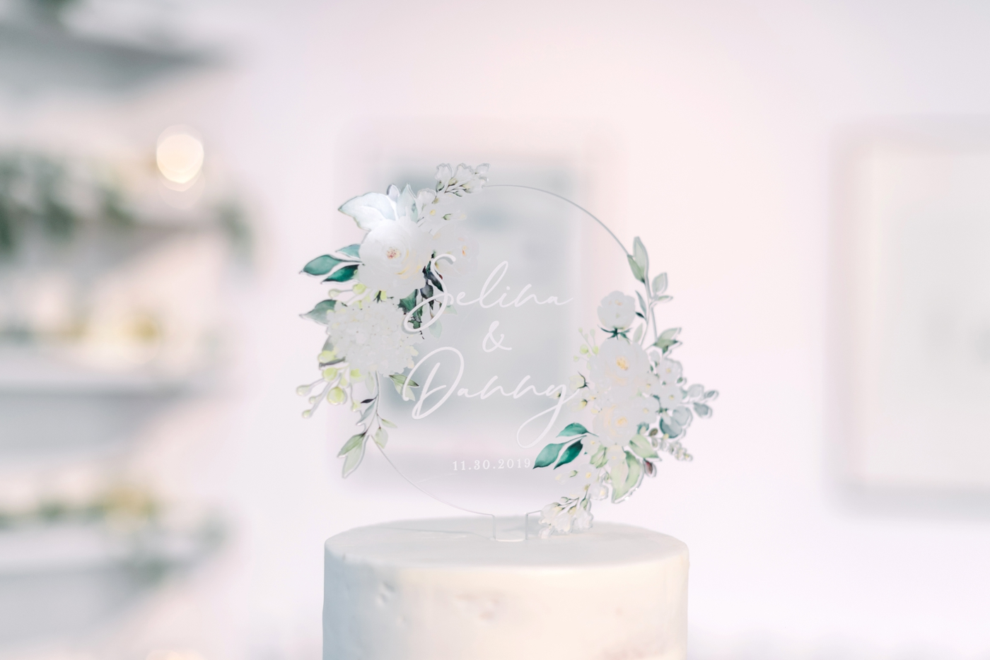 erica group calligraphy cake topper