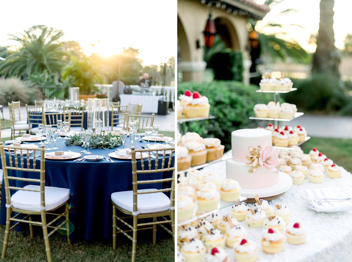 reception cake display