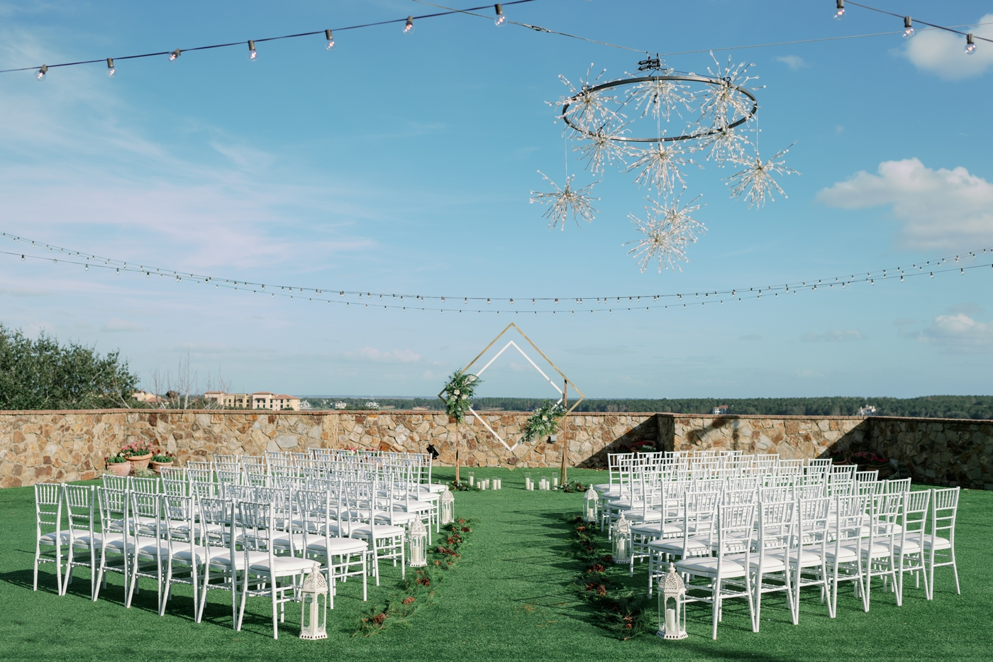 bella collina lawn ceremony