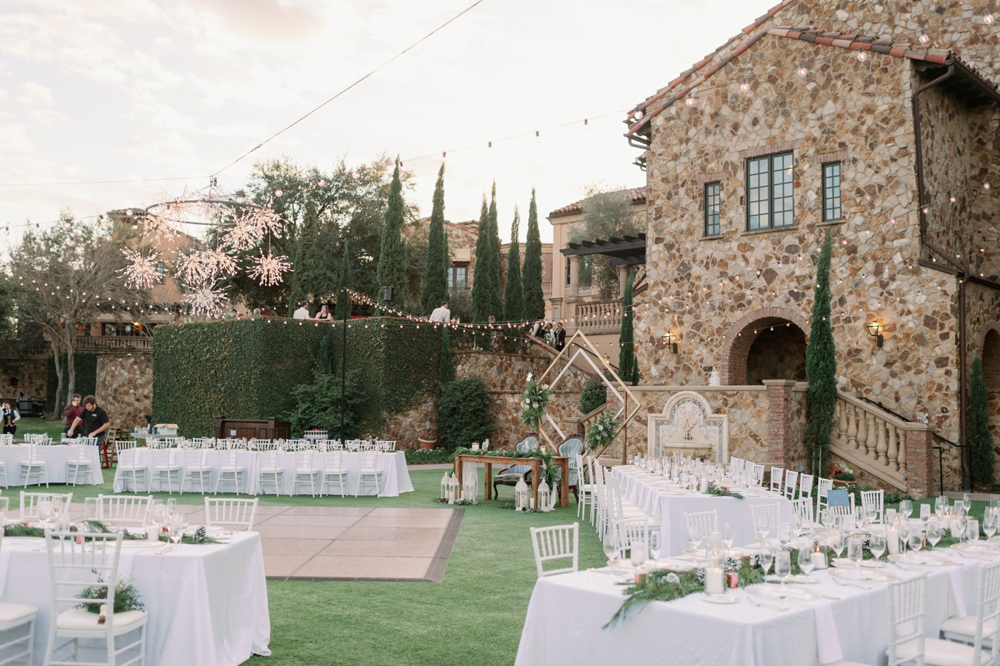 bella collina lawn reception