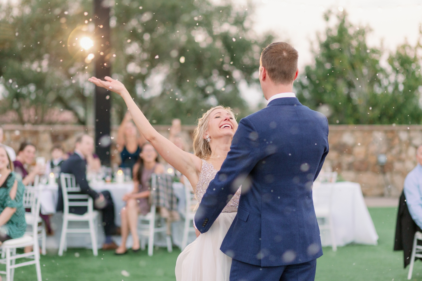 fake snow wedding
