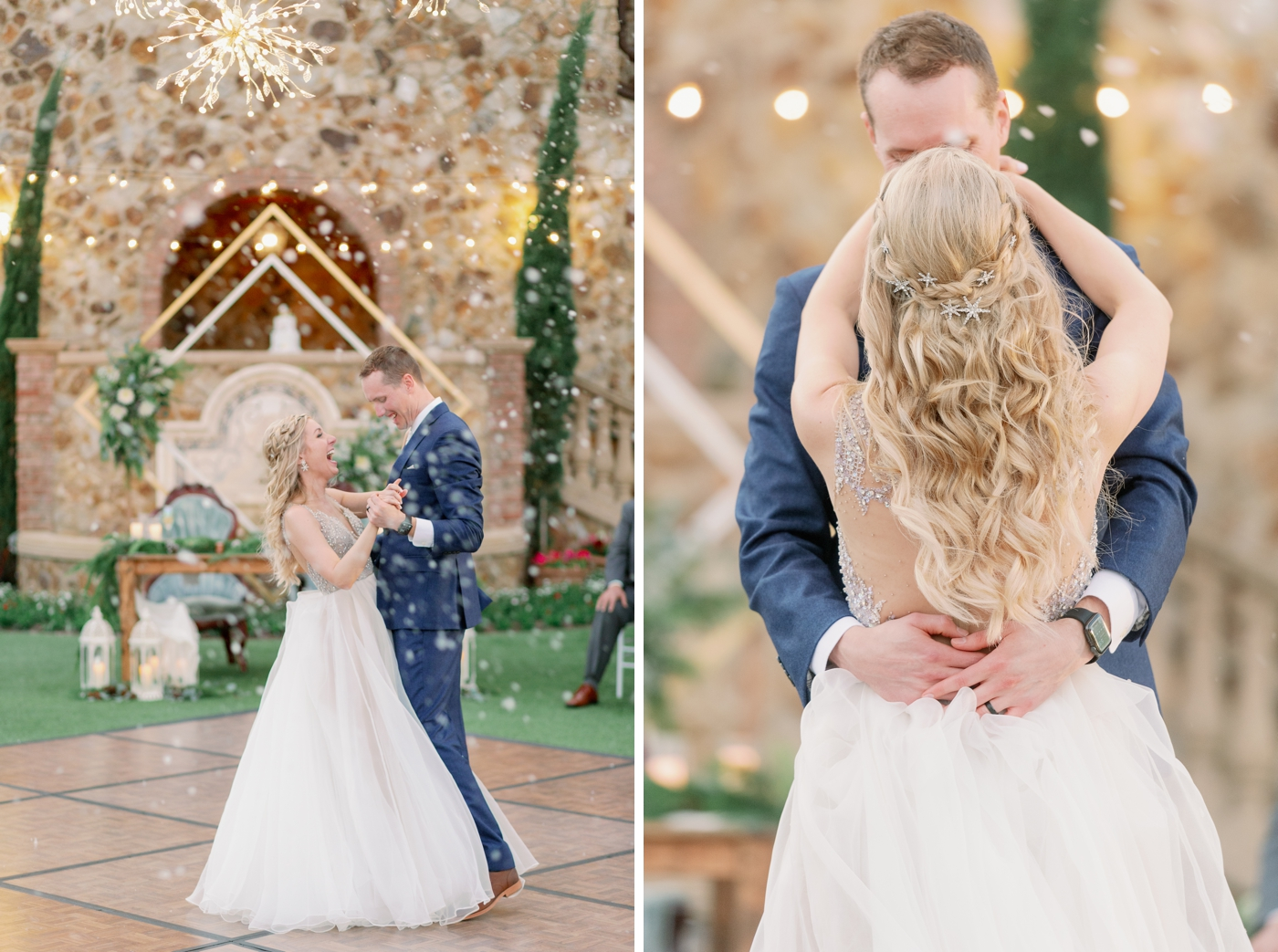 fake snow wedding orlando