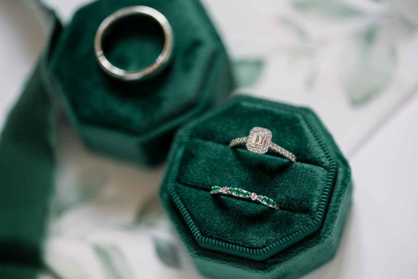emerald green ring box