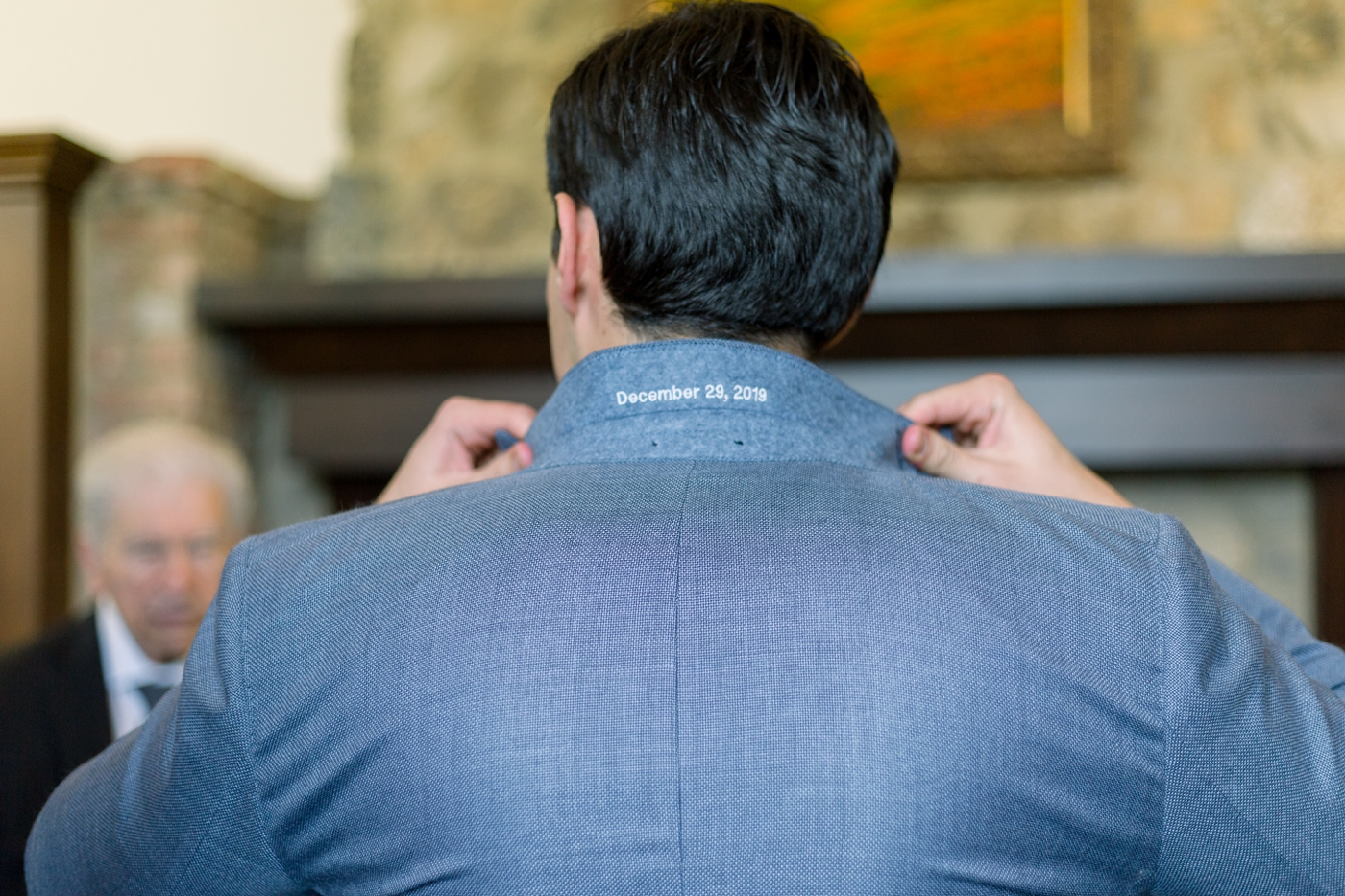 personalized groom suit