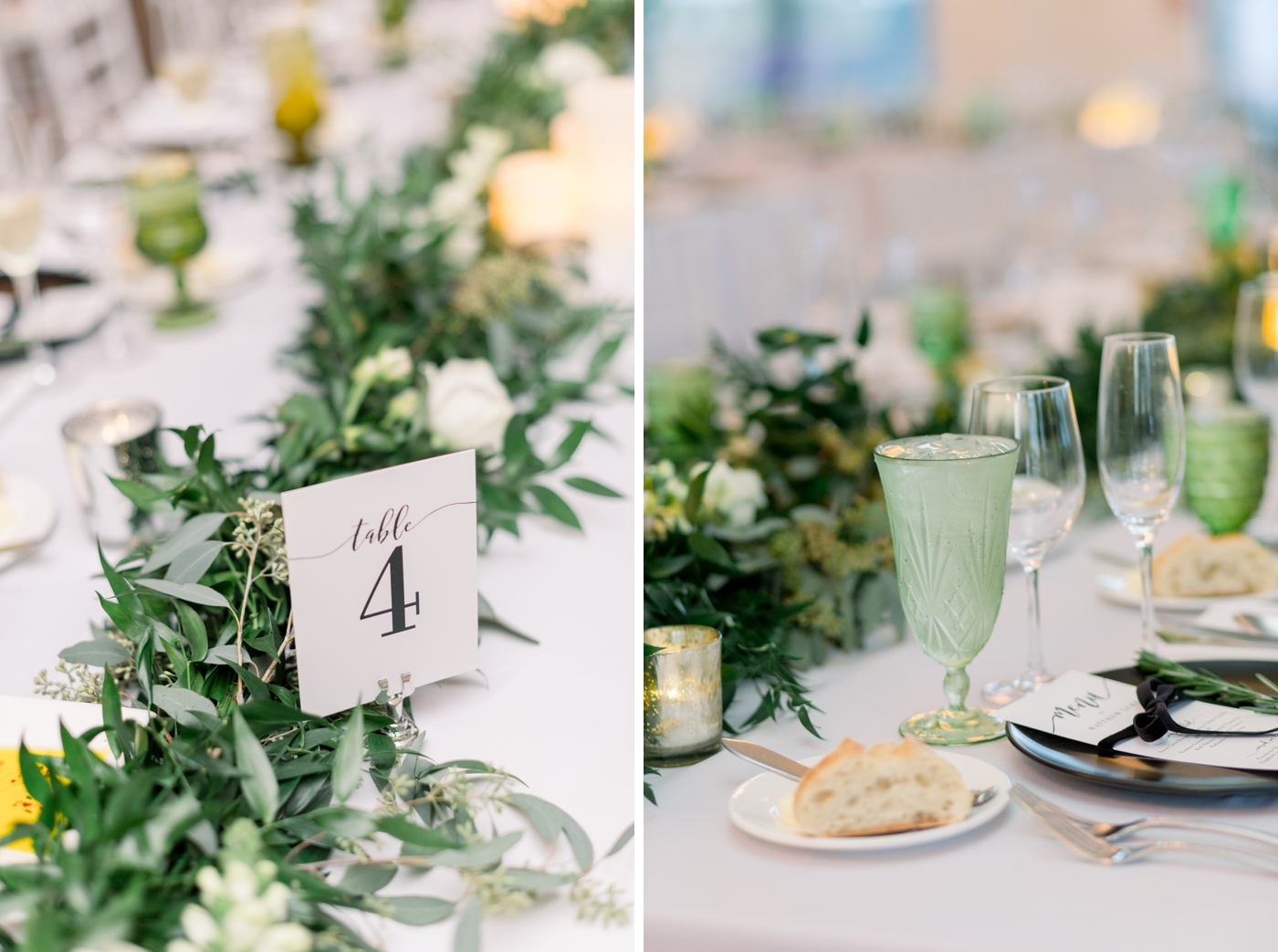 emerald green wedding decor