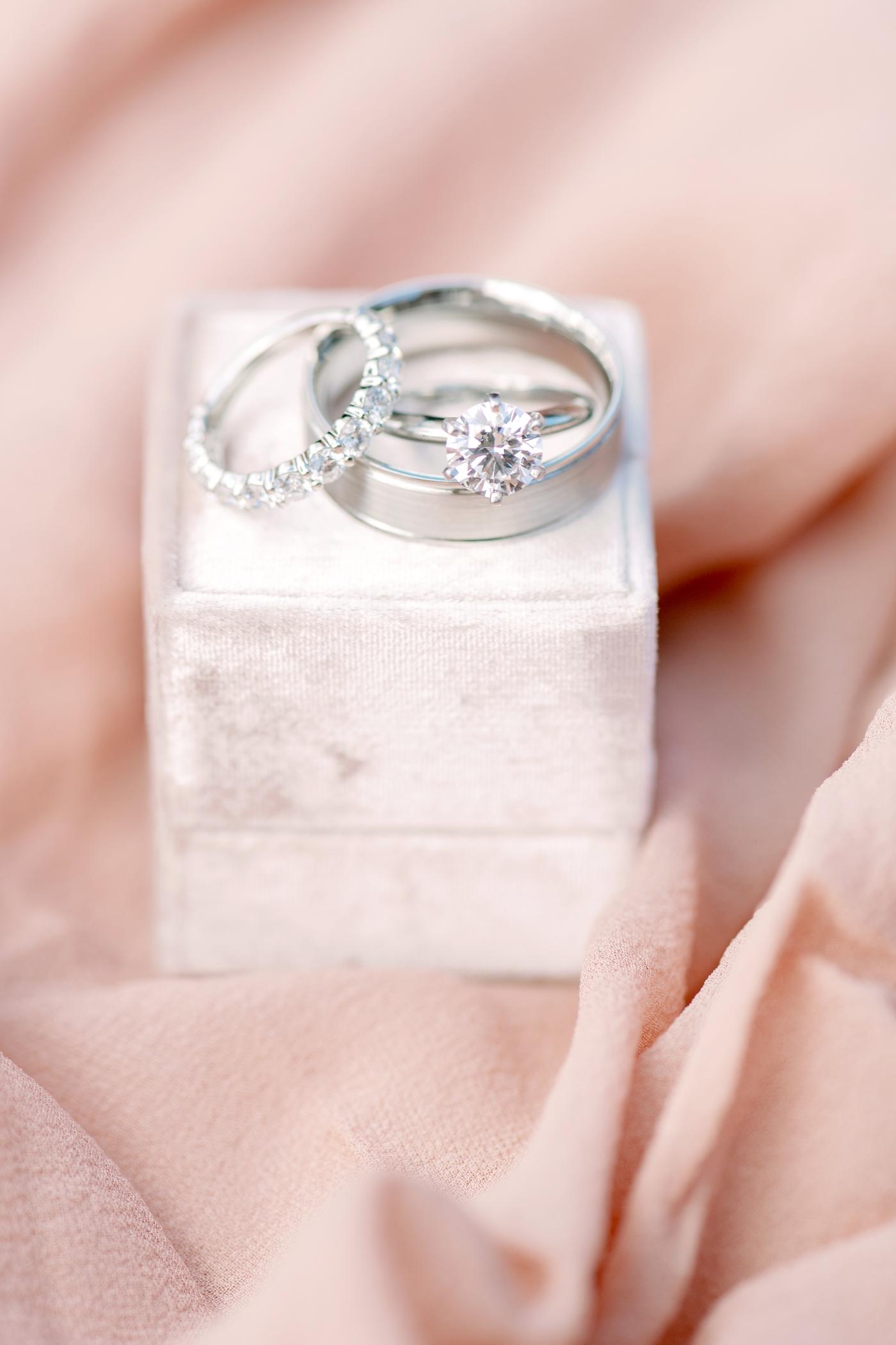 pink velvet ring box