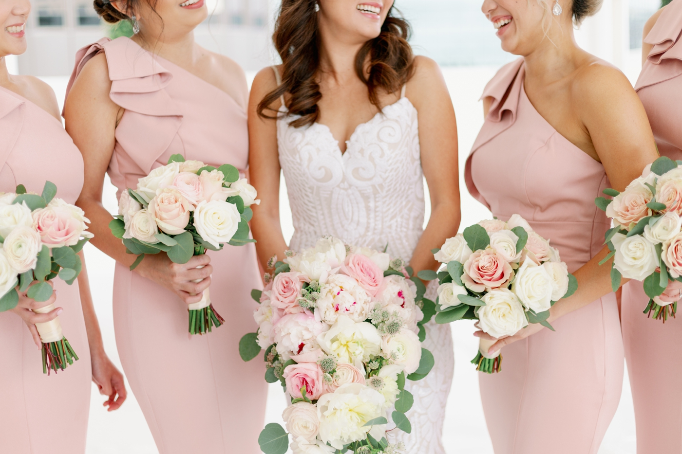blush pink wedding accents