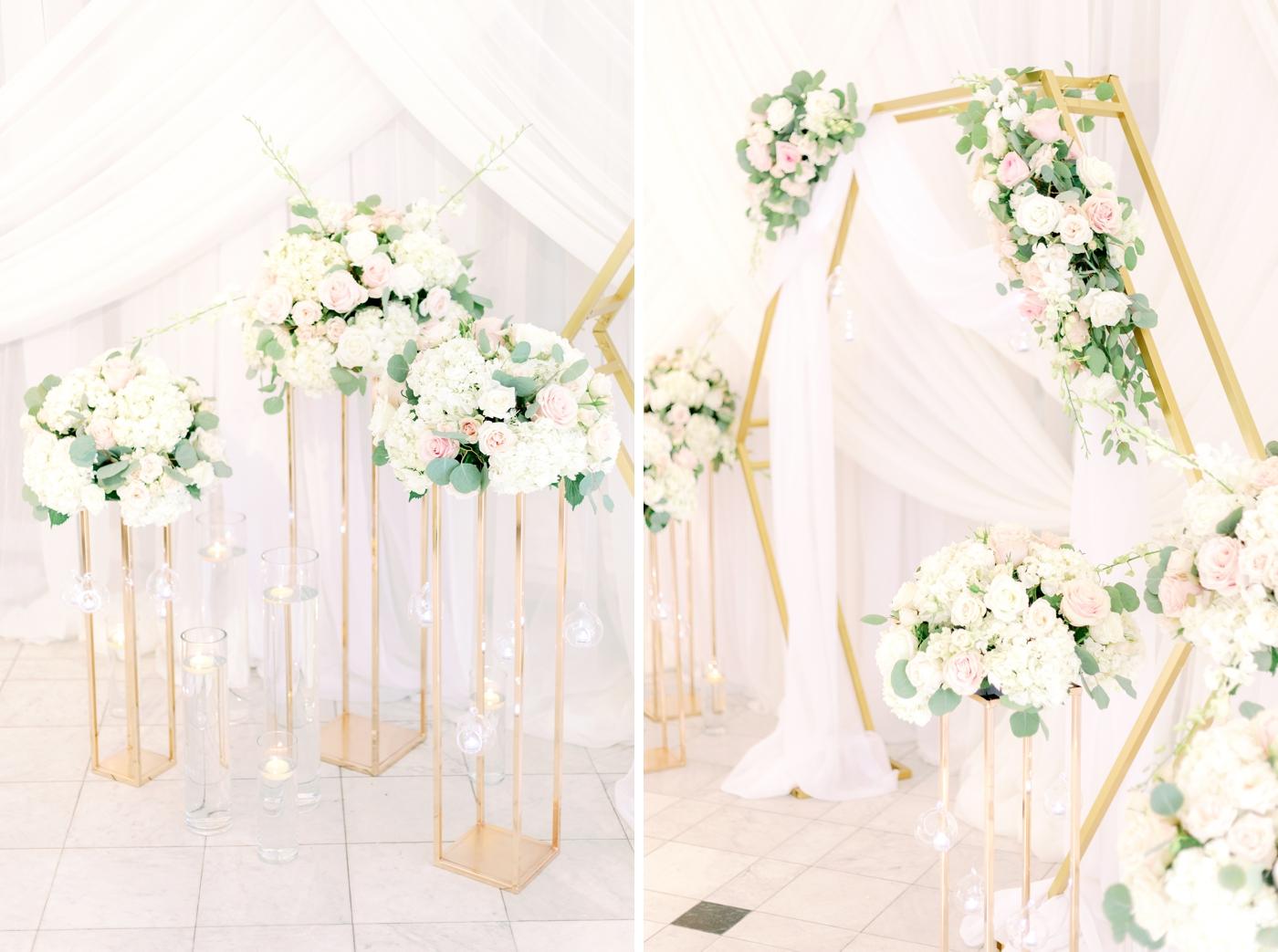 RJ glamour wedding arch