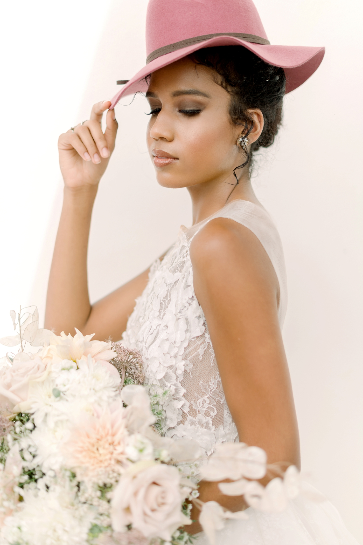 modern unique bridal style