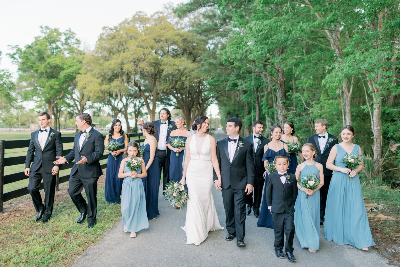 wedding party photography orlando