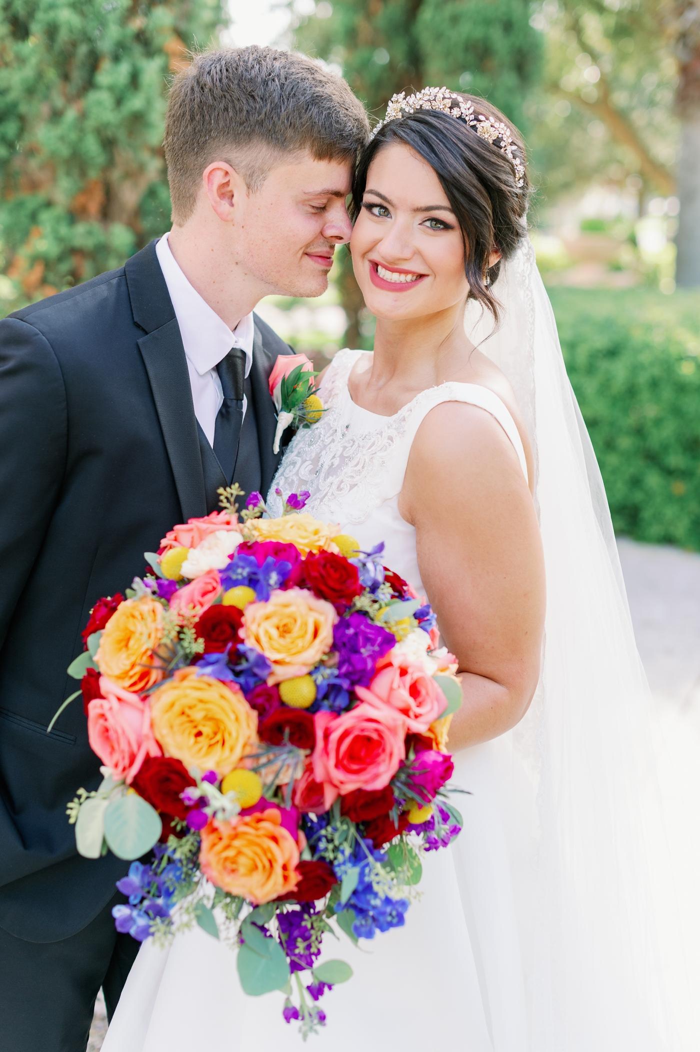 raining roses wedding floral