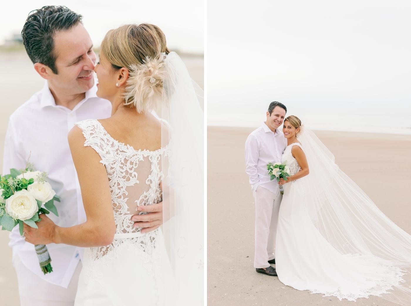 beach elopement wedding photographer
