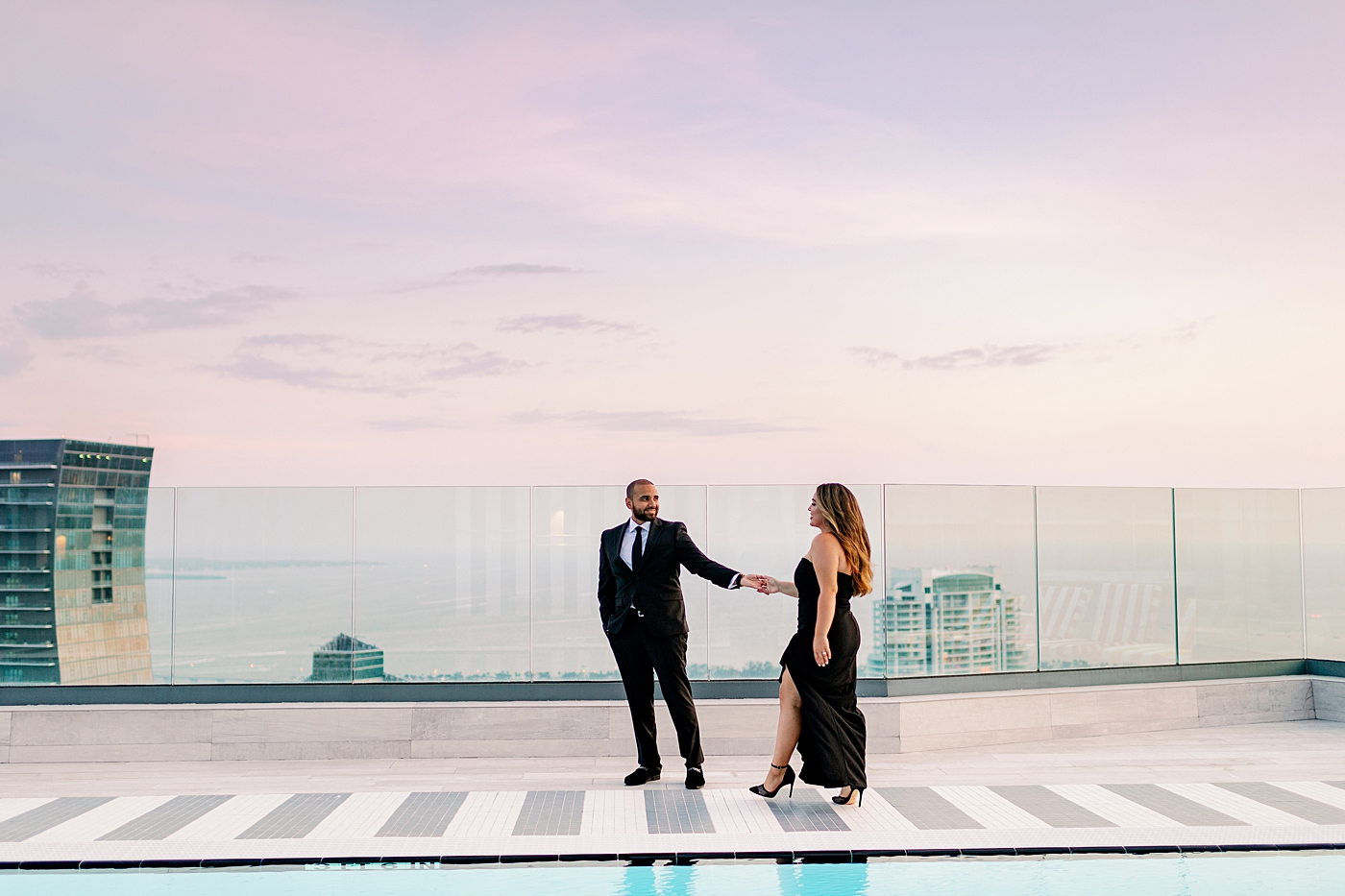 rooftop miami engagement