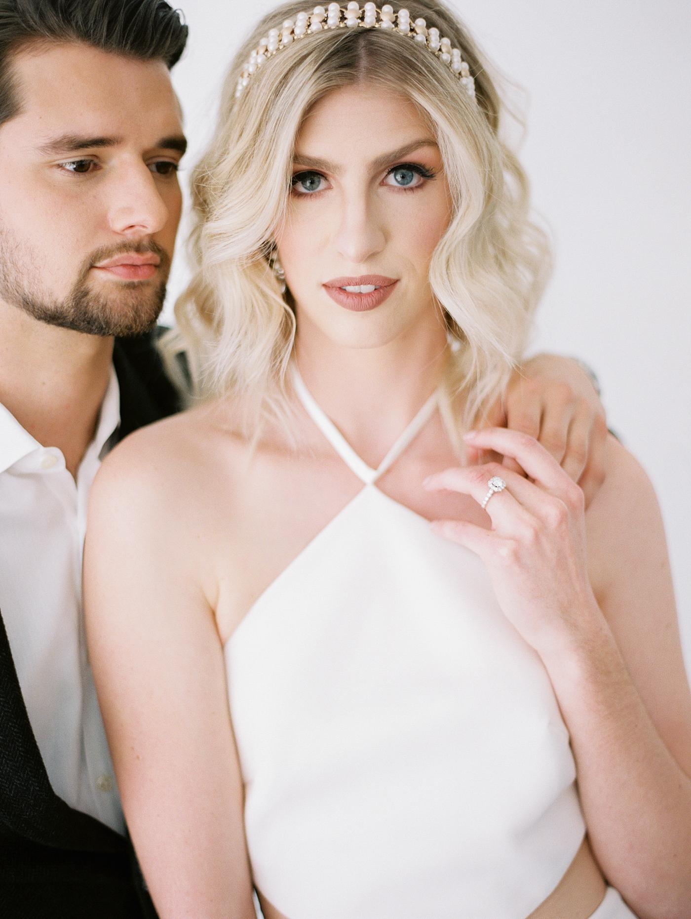 elopement bride look