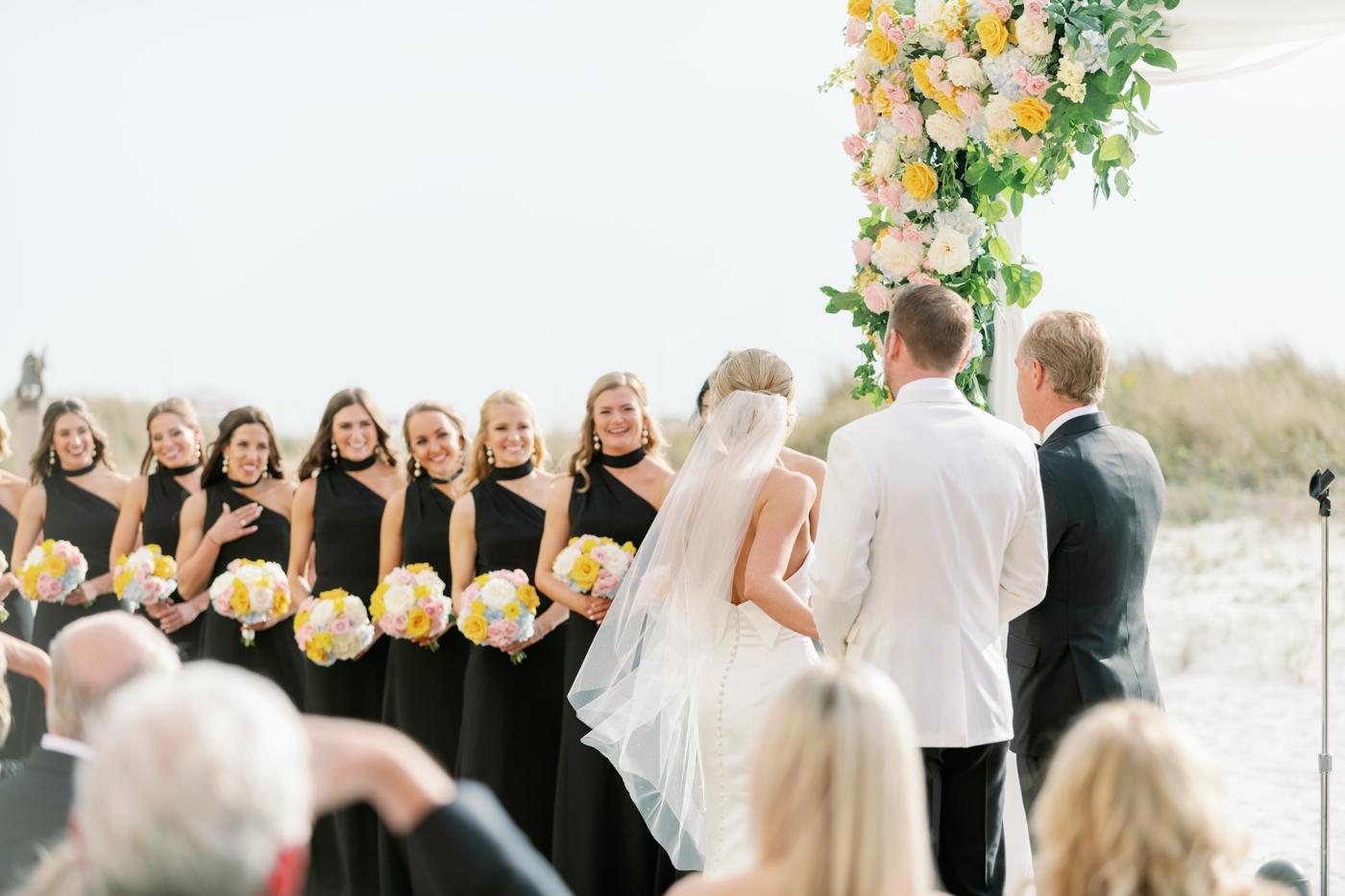 Sand pearl wedding ceremony