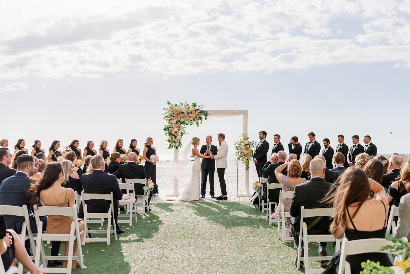 Sand pearl wedding ceremony photography