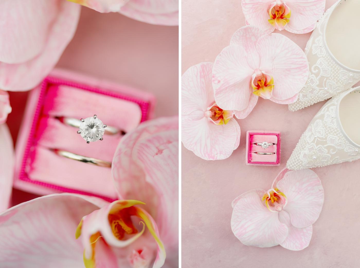 Blush wedding in photographer