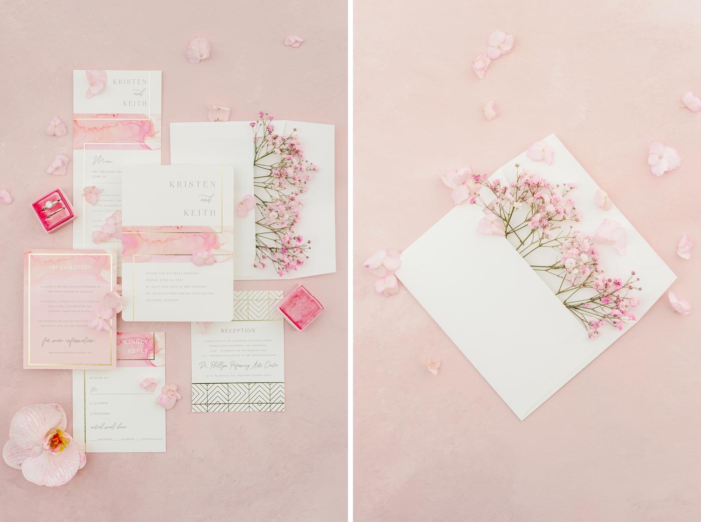 blush wedding inspo photography