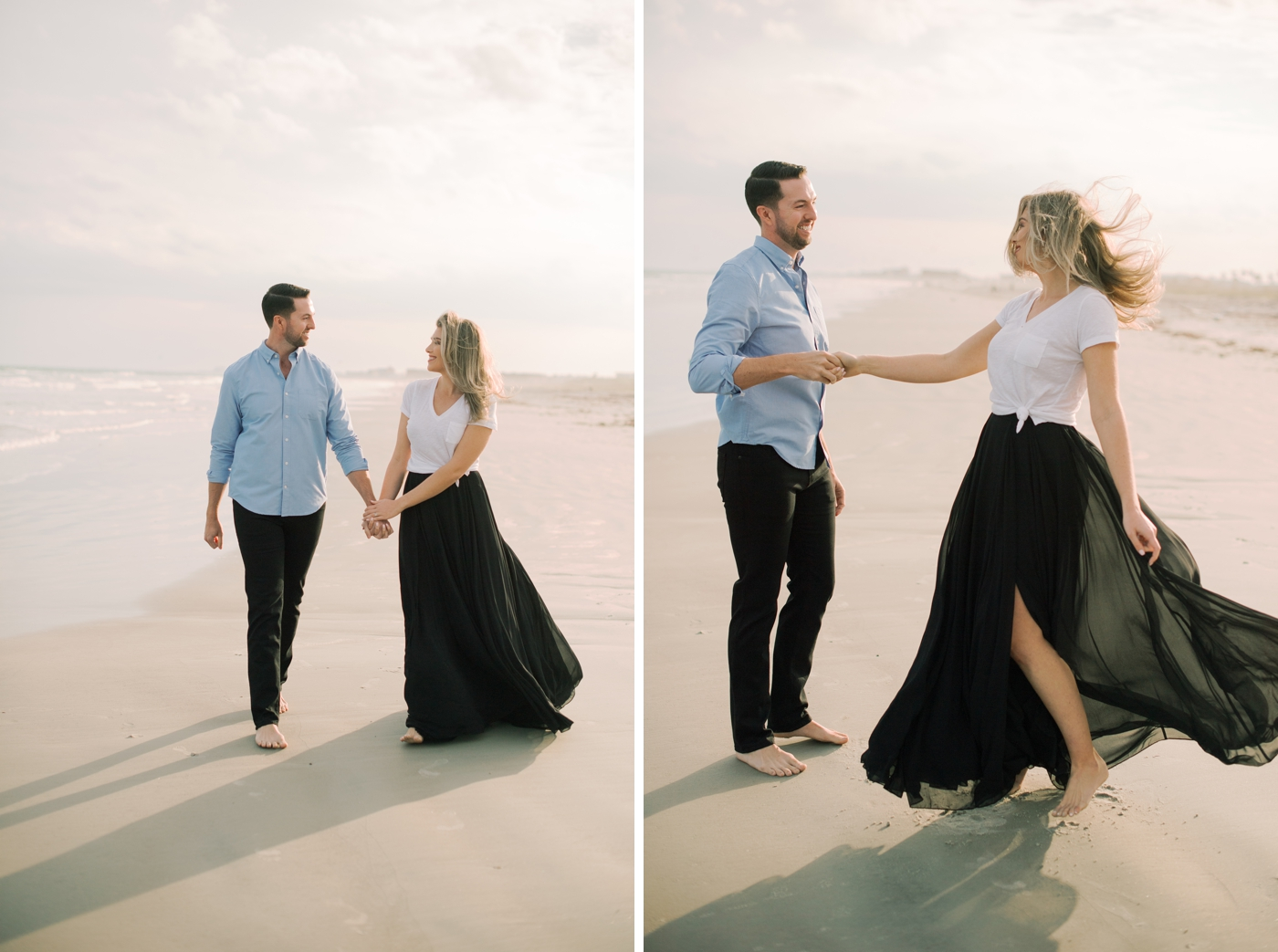 beach engagement session